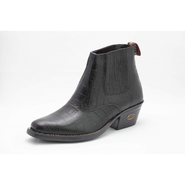BOTINA COUNTRY CROCO PRETO